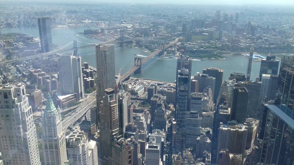 Blick vom Freedom Tower auf Brooklyn