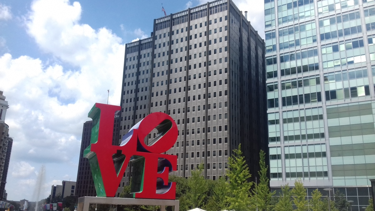 Love Philly Skulptur